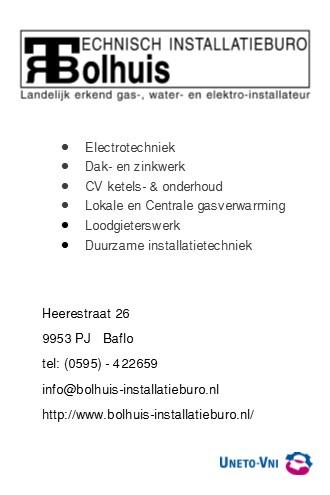 Bolhuis installatiebedrijf